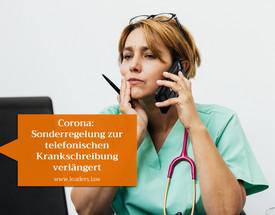Sonderregelung zur telefonischen Krankschreibung verlängert