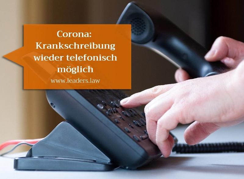 Corona: Krankschreibung per Telefon wieder möglich